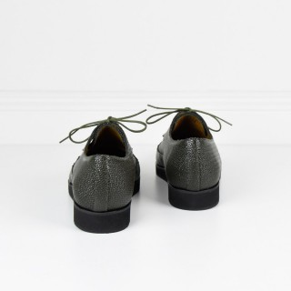 London derbies sharp khaki Shoes Anne Thomas