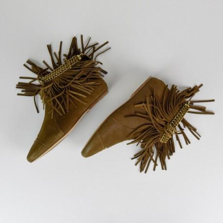 Fringed flat boots Françoise Dreyfuss