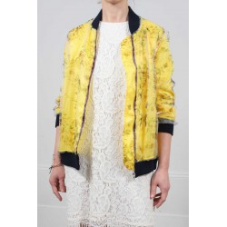Printed Teddy Jacket Camp Figari Roseanna