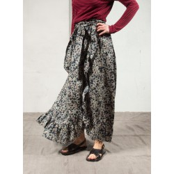ALDA long printed wrap skirt with flounce Isabel Marant Etoile