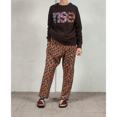 "MILIA Long sleves sweatshirt with ""RISE"" patchwork Isabel Marant Etoile"