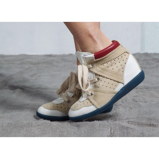 BRYCE white sneaker with silver eyelets Isabel Marant