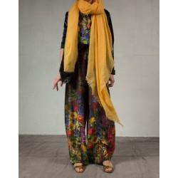 Faliero Sarti yellow scarf cashmeer & silk