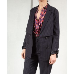 RICH LLOYD Navy double breasted jacket Roseanna