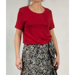 Tee shirt KILLIAN rouge uni Isabel Marant Etoile