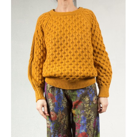 NOREEN Cable sweater ochre Isabel Marant