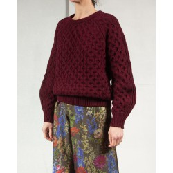 NOREEN Cable sweater burgundy Isabel Marant