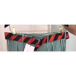 BELT RUBAN Roseanna orange and navy ribbon belt