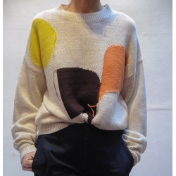 GREENLEE Long sleeves sweater with graphic jacquard Isabel Marant Etoile