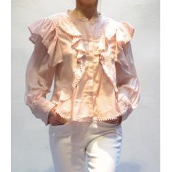 ALEA Chemise coton avec volants brodés Isabel Marant Etoile