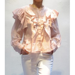 ALEA cotton shirt with embroidered ruffles Isabel Marant Etoile
