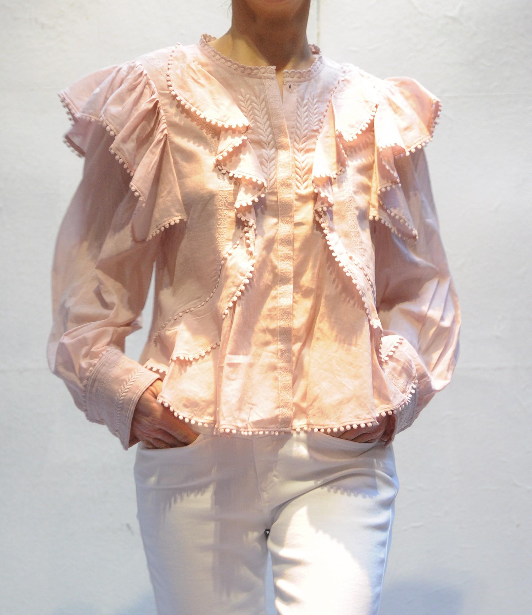 b471430b555f0 YCAO Isabel Marant long sleeves shirt cotton silk linin striped fabric