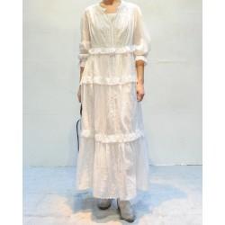 ABONI Robe blanche longue à volants Isabel Marant Etoile