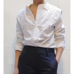 WILLOW embroidered cotton shirt with Isabel Marant Etoile