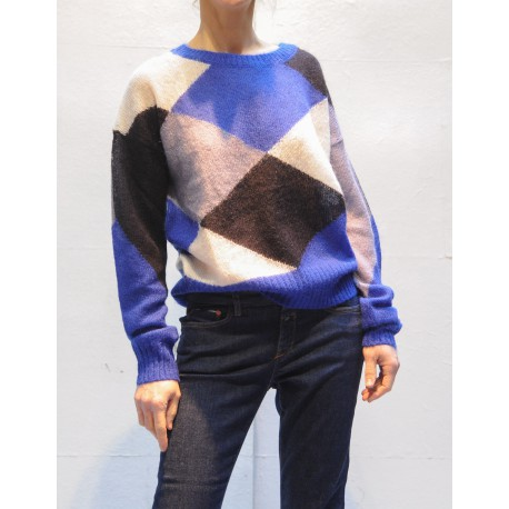 C96518989IT CLOSED Long sleeves sweater with graphic jacquard