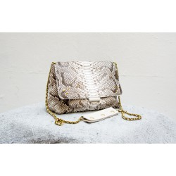 LULU M shoulder bag white python Jérôme Dreyfuss