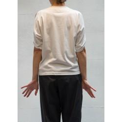 Maison Martin Margiela T shirt blanc épaule ouverte