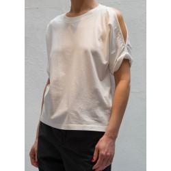 Maison Martin Margiela white T shirt withshoulders opening