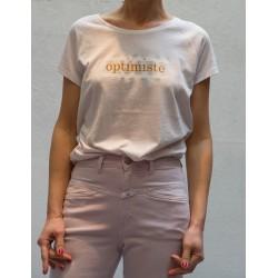 """CLOSED T Shirt manches courtes raglan imprimé """"Optimiste"""""""