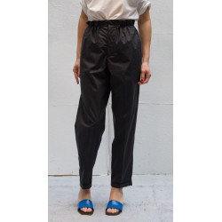 CLOSED CARO Black pants with turn up & elastic waist string