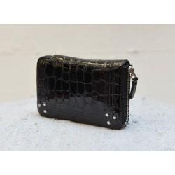 JULIEN black croco like  lambskin wallet Jérôme Dreyfuss