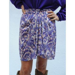 YEGART Isabel Marant Etoile Purple draped short skirt