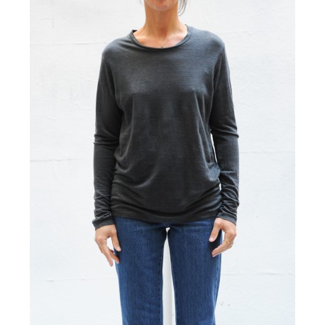 KAARON Tshirt manches longues lin anthracite Isabel Marant Etoile
