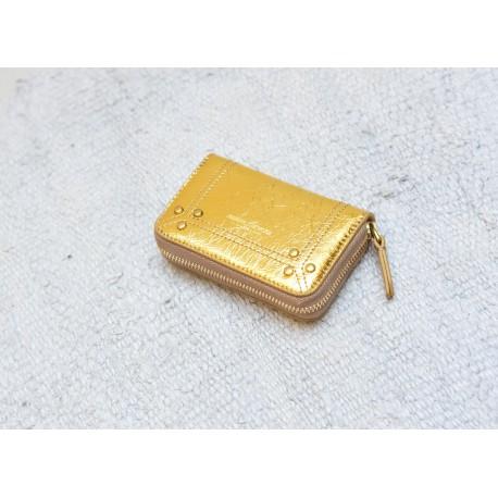 HENRI Jérôme Dreyfuss gold lambskin small wallet