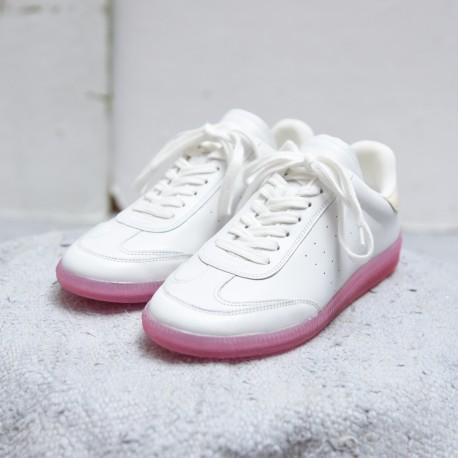 BRYVEE Isabel Marant Etoile vintage sneaker pink rubber sole