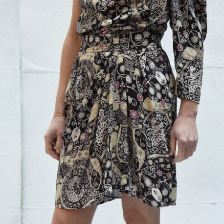 CEGART Isabel Marant Etoile printed draped short skirt