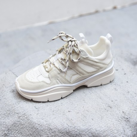 KINDSAY Isabel Marant Etoile monochrome chalk city running sneakers