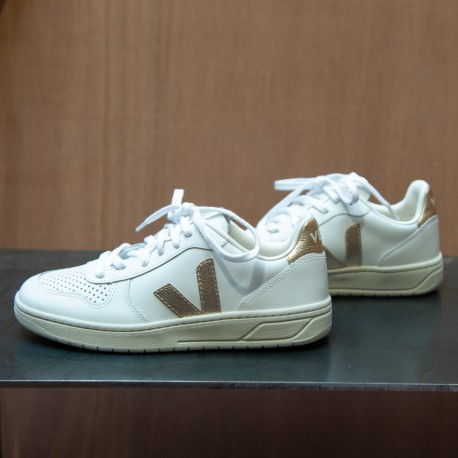 SNEAKERS V-10 LEATHER WHITE...